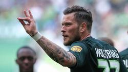 Will schnell wieder auf Torejagd gehen: Wolfsburg-Stürmer Daniel Ginczek. Foto: Peter Steffen