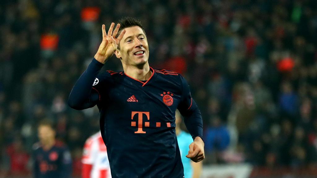 Robert Lewandowski vom FC Bayern befindet sich aktuell in Topform
