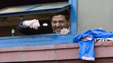 Steven Gerrard feierte den Meistertitel mit den Rangers