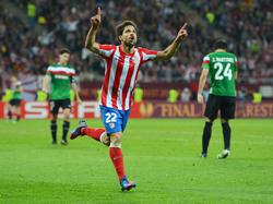 Diego en el 2012 en la final de la Europa League con el Atlético. (Foto: Getty)
