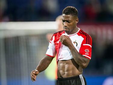 Ruben Schaken baalt na afloop van Feyenoord - sc Heerenveen. (15-8-2014)