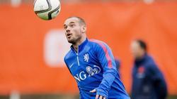 Wesley Sneijder steht vor seinem letzten Einsatz für die Elftal