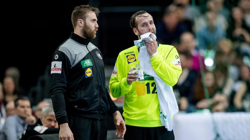 Andreas Wolff und Silvio Heinvetter hüten das deutsche Tor bei der Handball-WM