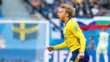 Emil Forsberg wurde gegen Rumänien vorzeitig ausgewechselt
