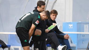 Niclas Füllkrug (l.) und Clemens Fritz (r.) gerieten in Darmstadt aneinander