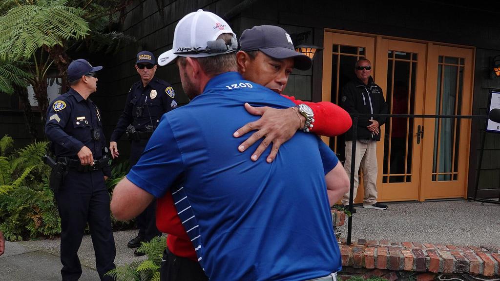 Geschockt vom Tod seines Freundes Kobe Bryant: Golfstar Tiger Woods (hinten)