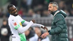 Gladbach-Trainer Marco Rose hofft auf den Einsatz von Stürmer Marcus Thuram