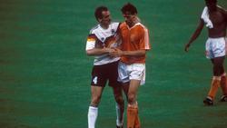 Jürgen Kohler (l.) und Marco van Basten trafen häufig aufeinander
