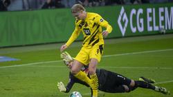 Erling Haaland erzielte zwei Treffer für den BVB