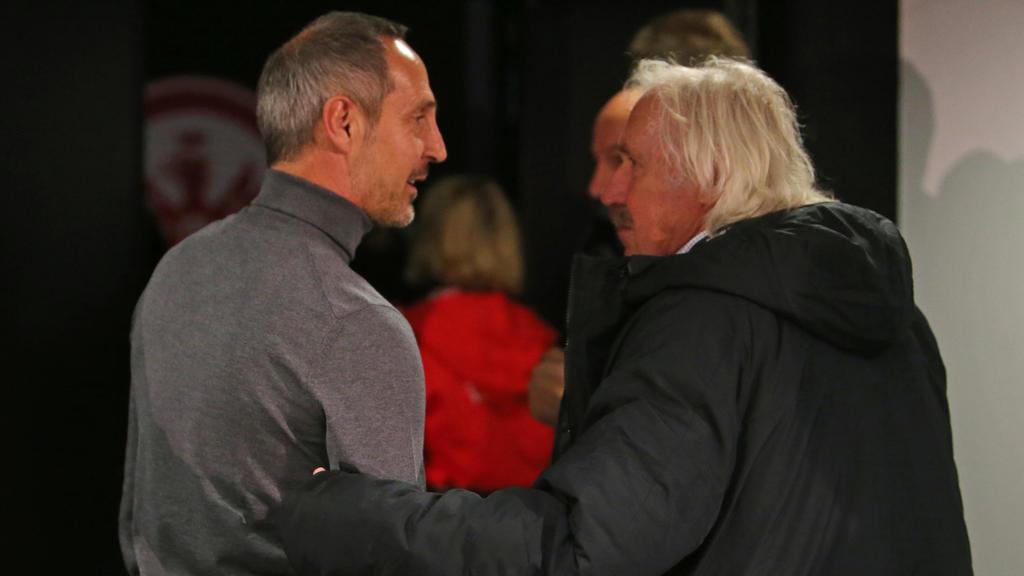 Dragoslav Stepanovic (r.) kann den Eintracht-Abgang von Adi Hütter (l.) bedingt nachvollziehen