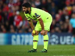 Suárez se lamenta de la eliminación en Liga de Campeones. (Foto: Getty)