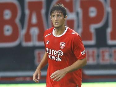 Giorgos Katsikas krijgt speeltijd tijdens het competitieduel FC Twente - ADO Den Haag (17-09-2016).
