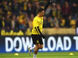 Shinji Kagawa en un calentamiento con el Dortmund en Champions. (Foto: Getty)
