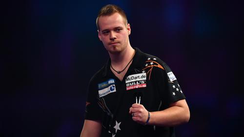 Max Hopp setzte sich beim World Matchplay in Blackpool überraschend gegen Dave Chisnall durch