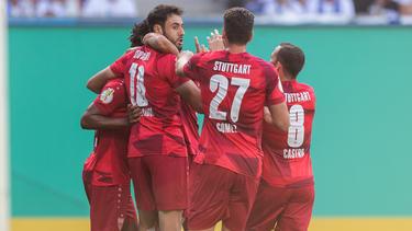 Der VfB Stuttgart letzte sich in letzter Minute gegen St. Pauli durch