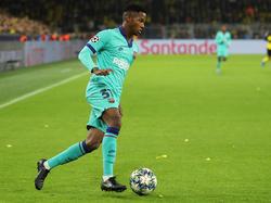 Ansu Fati es el futbolista más joven de la historia culé en debutar en Champions.