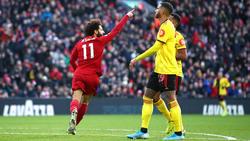 Mohamed Salah hizo doblete en Anfield.