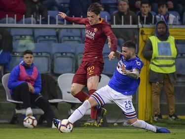 Zaniolo en un duelo de esta campaña contra la Sampdoria.