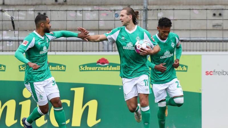 Rettete Werder einen Punkt in Freiburg: Niclas Füllkrug (M)