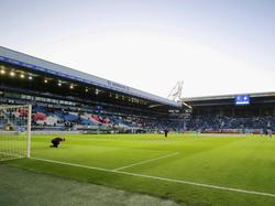 De spelers van Ajax zijn begonnen aan de warming-up in het Abe Lenstra Stadion voor de wedstrijd tegen sc Heerenveen. (20-04-2016)