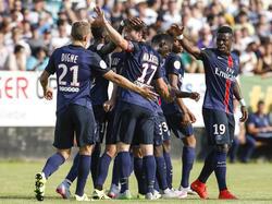 Los jugadores del PSG celebran el gol de Serge Aurier. (Foto: Getty)