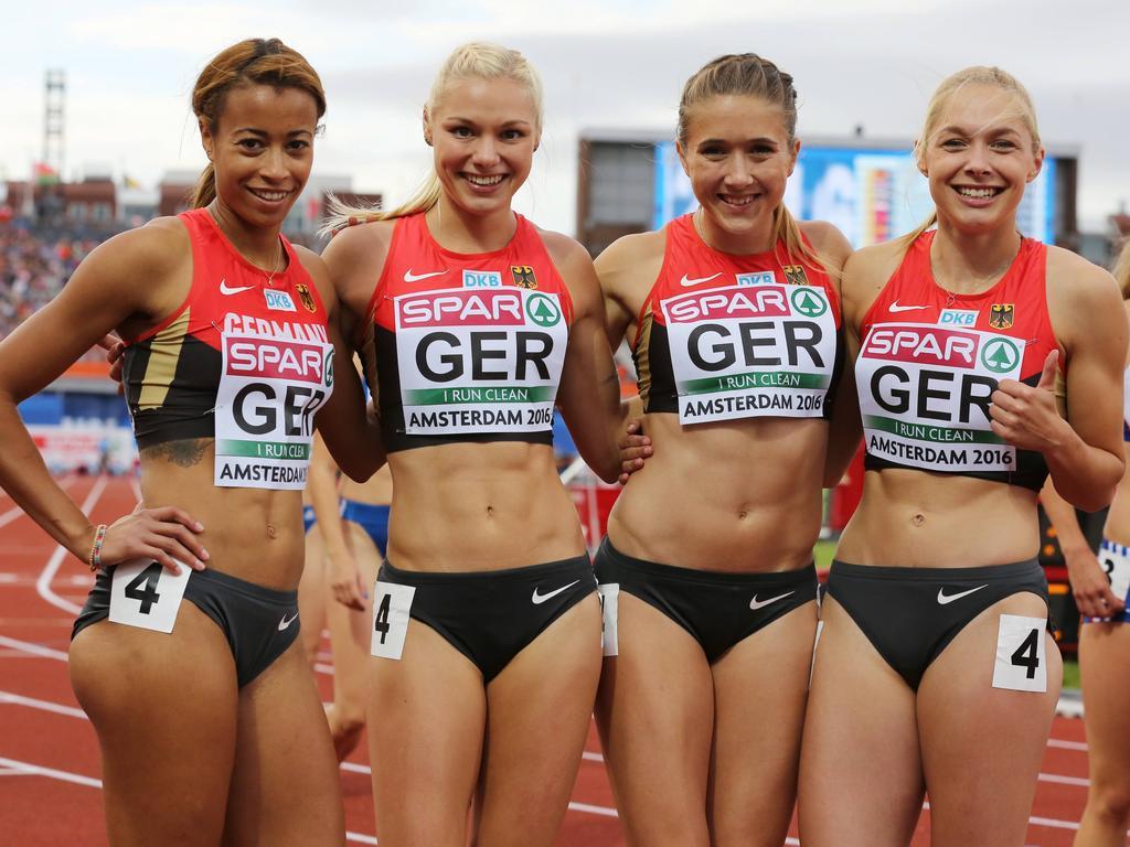 wie kommt man herren gut aussehend Sprintstaffel der Frauen holt Bronze
