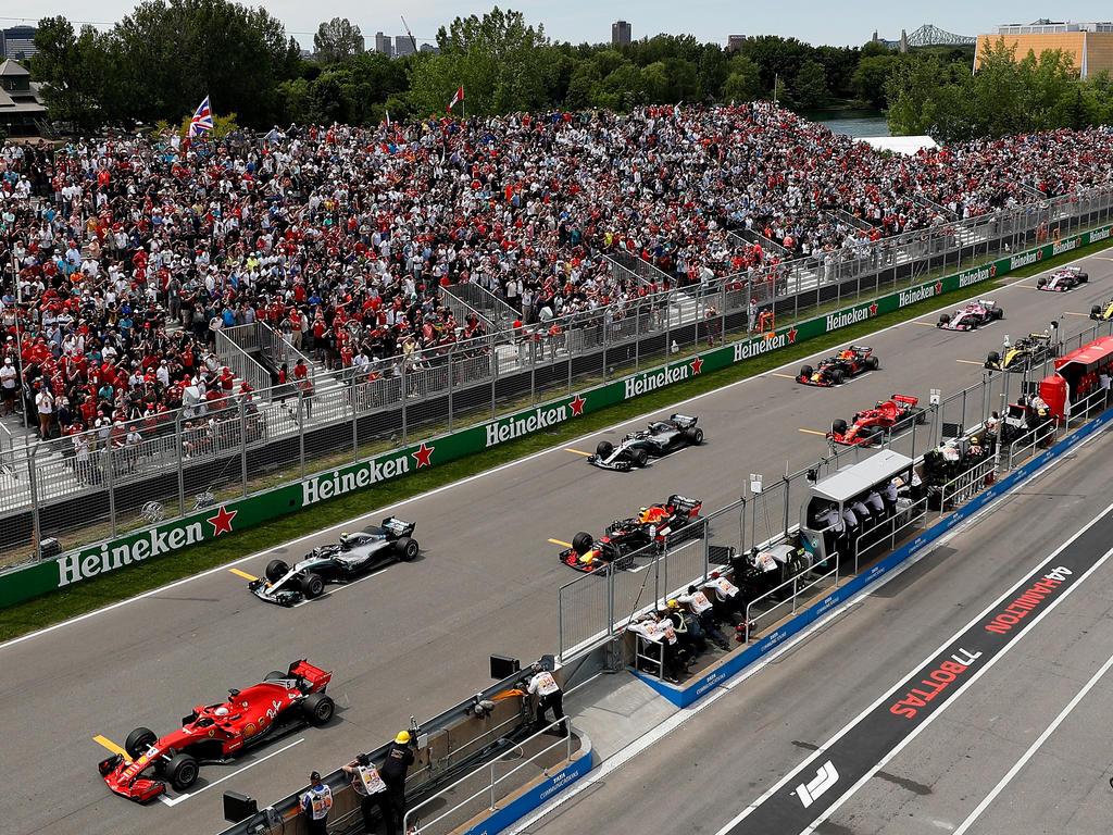 Millionen Zuschauer verfolgten das Rennen in Kanada