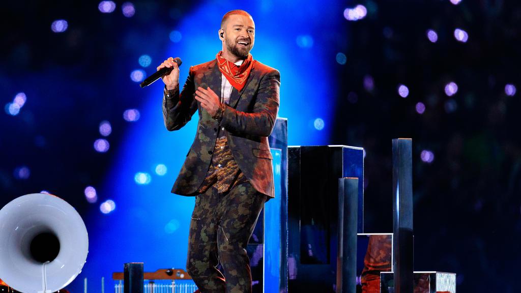 Justin Timberlake bietet ein Public Viewing an