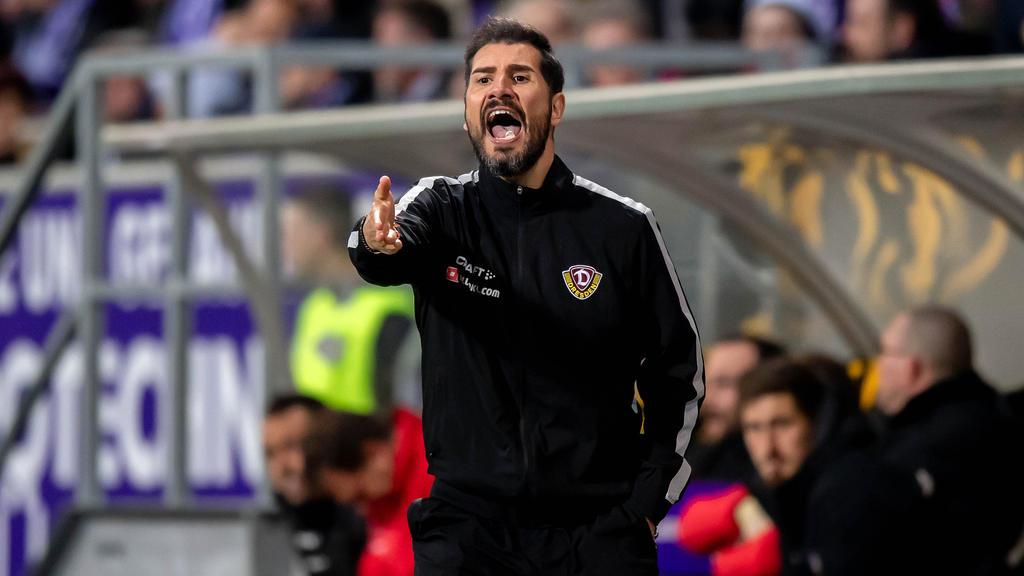 Cristian Fiél musste die erste Pleite mit Dynamo Dresden einstecken