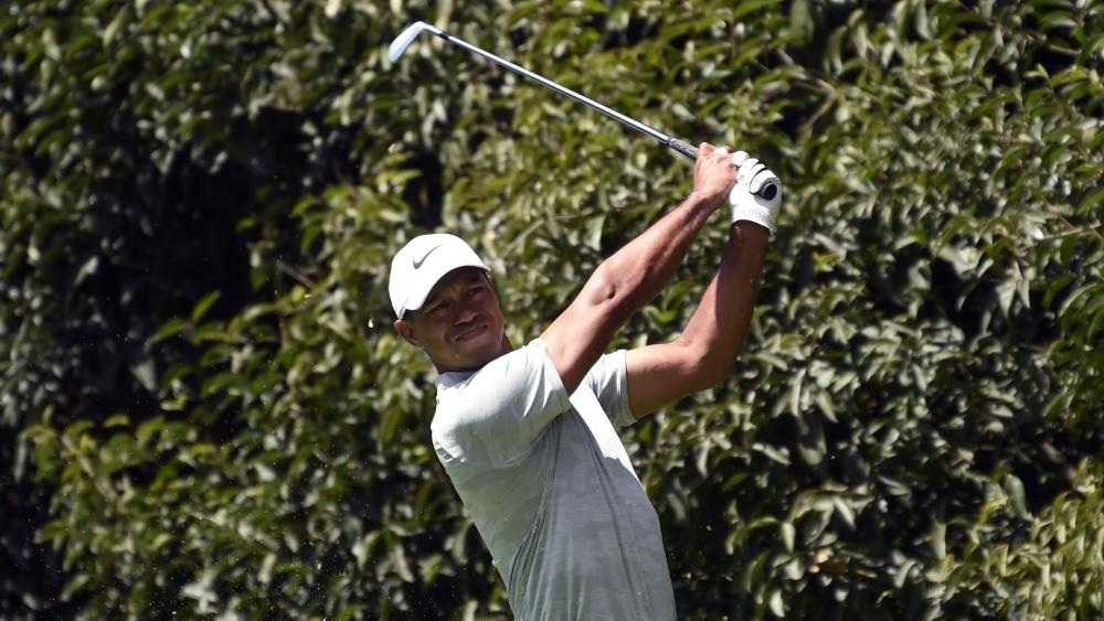 Liegt derzeit neun Schläge hinter Brooks Koepka: Tiger Woods