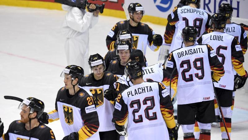 Gute Stimmung beim deutschen Team bei der Eishockey-WM