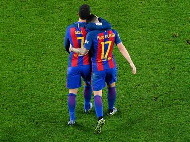 Arda y Alcácer anotaron contra el Hércules en Copa. (Foto: Getty)