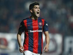 Nicolás Blandi en un encuentro con la camiseta de San Lorenzo. (Foto: Imago)