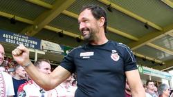 Pele Wollitz geht mit Freude und Euphorie ins Duell mit dem FC Bayern