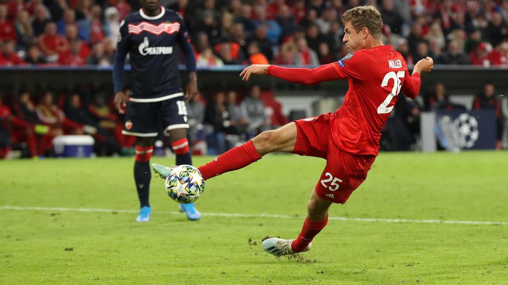 Thomas Müller ist beim FC Bayern nur noch Bankdrücker