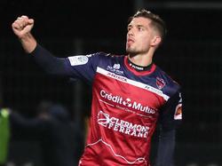 Clermont-Stürmer Adrian Grbić jubelte gegen Troyes dreimal