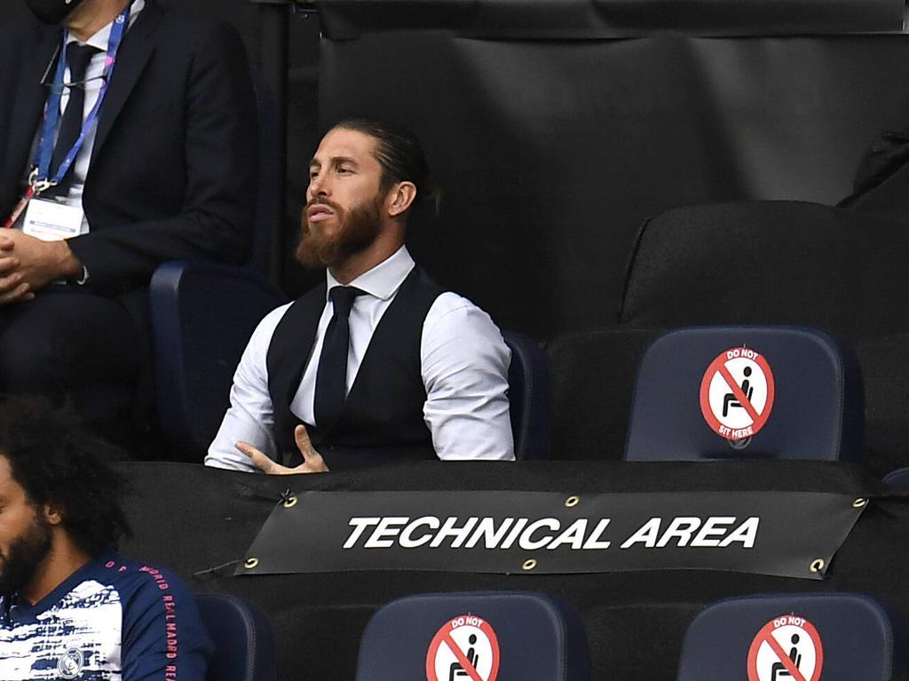 Ramos vio todo el encuentro desde la grada del Etihad.