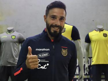 Galíndez sonríe por su llegada a la selección ecuatoriana.