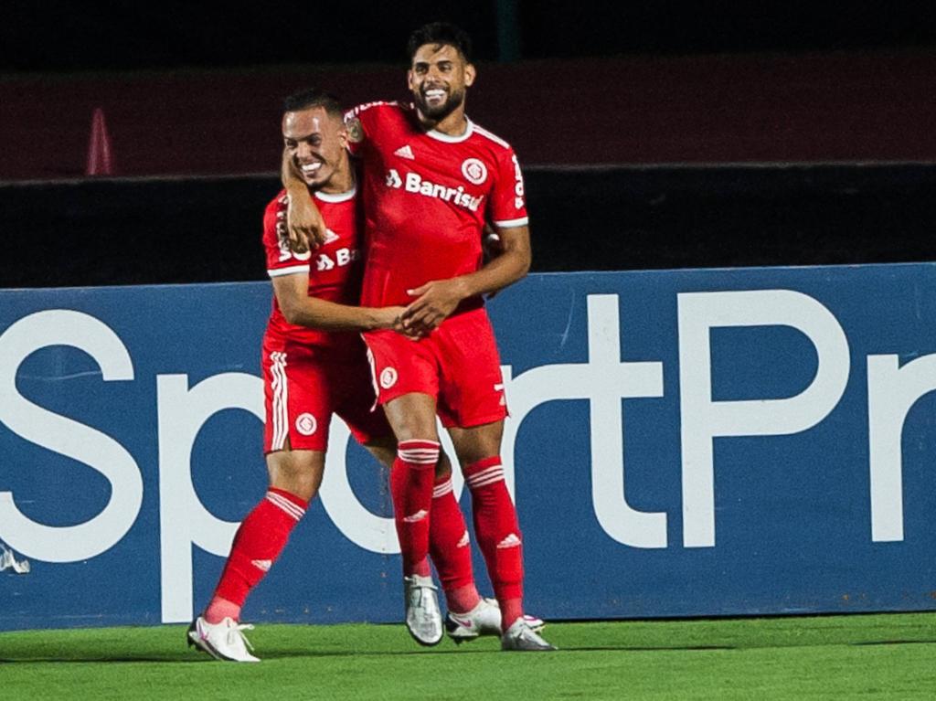 Yuri Alberto celebra uno de sus goles fuera de casa.