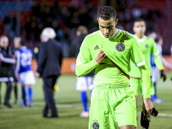 Zakaria el Azzouzi is teleurgesteld na afloop van het competitieduel FC Den Bosch - Jong Ajax. (11-12-2015)
