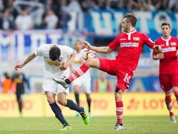 Adrian Nikçi (l.) hat bei Union Berlin verlängert