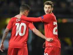 Coutinho (l.) und Lallana: In Topform für die Reds