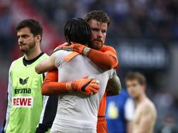 Timo Horn und Dominic Maroh spielten lange Jahre zusammen beim 1. FC Köln