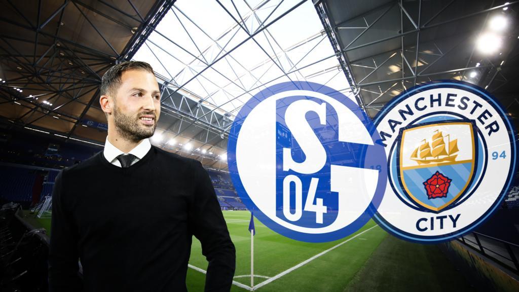 Domenico Tedesco geht mit Schalke optimistisch in die Partie gegen ManCity