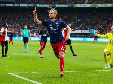 Siem de Jong en una imagen con el Ajax. (Foto: Getty)