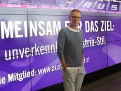 Klare Worte von Austria Wiens neuem Sportvorstand Peter Stöger
