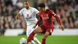 Der FC Liverpool gewann mit 2:0 gegen Milton Keynes