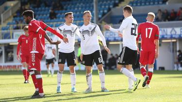 Die U19-Nationalmannschaft setzte sich klar gegen Weißrussland durch