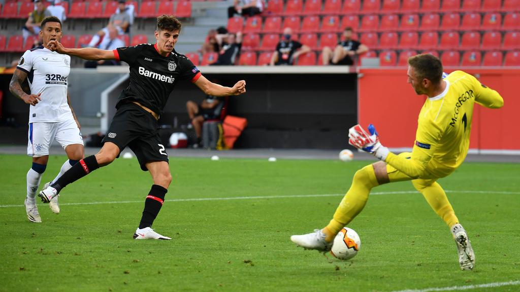 Kai Havertz und Bayer Leverkusen stehen im Viertelfinale der Europa League