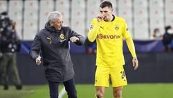 Gut gelaunt: BVB-Coach Lucien Favre